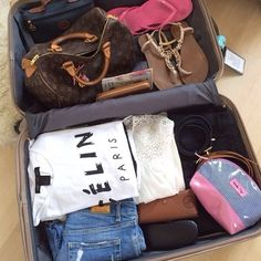 ✦ ⊱ ɛʂɬ ཞ ɛɩɩą ⊰ ✦ travel сумки, модные идеи 및 идеи. Packing Tips, Travel Packing, Travel Backpack, Travel Luggage, Travel Maps, Travel Usa, Fashion Style Summer, Travel Outfit Spring, Summer Travel