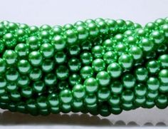 Items similar to Czech Glass Pearl Round Beads Green Color High Quality Bead for Beading DIY Jewelry - 4mm, 200pcs on Etsy