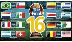 The Final 16 World Cup 2014 Schedule, Dates, Venues Wallpapers, Images, Pictures
