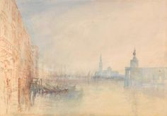 Joseph Mallord William Turner, 1775–1851, British  Venice, The Mouth of the Grand Canal  ca. 1840  Watercolor on medium, slightly textured, cream wove paper