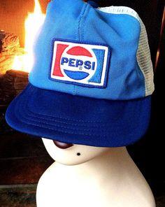 Vintage Retro Estate Mesh Pepsi Patch Trucker by MADVintology
