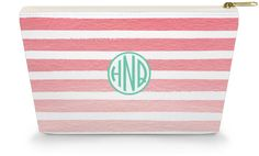 Personalized Make Up Bag - Ombre - Caroline And Company
