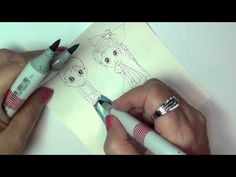 Marie Shares a tutorial on coloring Light Denim Blue with Copic Markers.