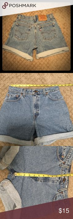 💲SOLD💲Vintage Levi's High Waisted Shorts Gently worn no flaws. Vintage item, please refer to actual measurements for fit. Levi's Shorts Jean Shorts