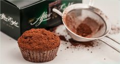 Schokomuffins mit Pfefferminze After Eight