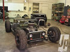 154 1103 Atypical Rod 1945 Jeep Cj2a Front Shot
