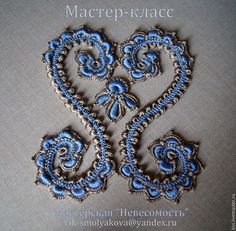 Обучающие материалы ручной работы. Ярмарка Мастеров - ручная работа. Купить мастер-класс элементов к голубой кокетке платья. Handmade.
