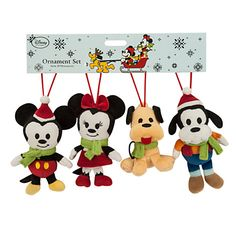 Mickey Mouse and Friends Plush Ornament Set - 2015