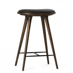 The Mater Stool in sirka grey stained oak, is another modern classic of Danish design by architect duo Space Copenhagen. The outstanding minimalist design and high quality finish will make this Scandinavian style stool the perfect statement piece in to Space Copenhagen, Low Stool, Grey Stain, Black Kitchens, Black Wood, Danish Design, Scandinavian Style, Modern Classic, Minimalist Design
