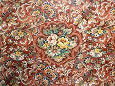 vintage linoleum rug 9ft x 8.4ft flooring | vintage, vintage