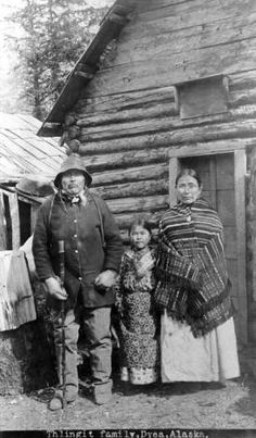 Tlingit family, Dyea, Alaska. :: Alaska State Library-Historical Collections 1886-1913