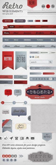 retro elements.