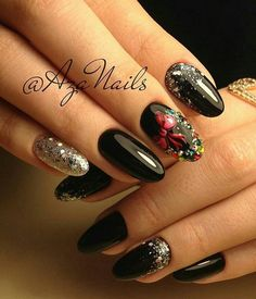 Ногти дизайн 2020 фото | VK Trendy Nail Art, Cool Nail Art, Winter Nail Art, Winter Nails, Love Nails, Fun Nails, Art Simple, Nagellack Trends, Types Of Nails