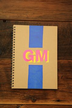 monogrammed notebook- super easy, great gift idea for anyone who likes to keep lists, write, or whom you can't figure out what else to give. Who doesn't need paper, and who doesn't love something personalized?!