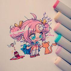 Un minuto de silencio por el café caído~ Mientras pintaba el dibujo, una amiga…