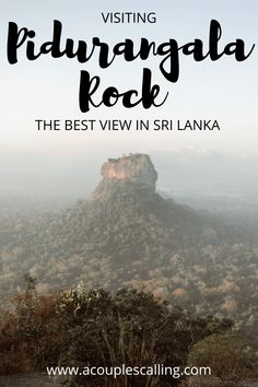 Are you looking for the best view in Sri Lanka? Climbing up Pidurangala Rock will give you the best view that Sri Lanka has to offer. Here is all the information you need to know about Pidurangala Rock like how tough the hike is, where to stay and how to get there! #acouplescalling #pidurangalarock #pidurangala #srilanka