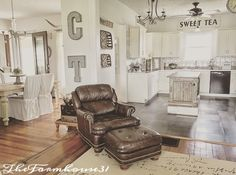 Our Family Room, Dining Room, Kitchen here at TheFarmhouse31