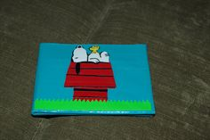 SALE Snoopy duck duct tape wallet by TheDuckTapeObsession on Etsy