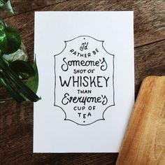 """Shot of whiskey..."" lettering by Mark van Leeuwen, via Behance"
