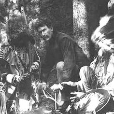 Ernest Thompson Seton, 1917. With Blackfoot Indians, starting a fire with bow and stick.