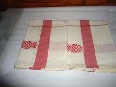 "Vintage NOS 100% Cotton Kitchen Towels. Pair (2).  **AS IS**.. 26"" X 17"" #Unbranded"