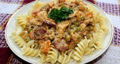 Magyaros csirkemell ragu recept: Aki szereti a pikáns ízeket, az feltétlenül próbálja ki ezt a magyaros csirkemell ragu receptet! :) Laktató, és finom étel! ;)