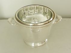 Antique Silver Plated Ice Bucket with Mercury by ModRendition, $60.00