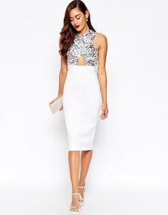 Image 4 of ASOS RED CARPET Premium Embellished Crystal Body-Conscious Dress