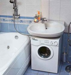 Installation of the washing machine under a sink of