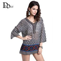 #aliexpress, #fashion, #outfit, #apparel, #shoes 2016, #Hot, #Sale, #Women, #Summer, #Geometric, #Pattern, #Blouse, #Beading, #Embroidery, #V-neck, #Casual, #Large, #Size, #Tops, #Beach, #Wear, #C131132 http://s.click.aliexpress.com/e/Q3FyvRzvz