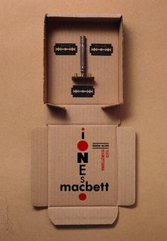 Macbeth by Eugene Ionesco | Original Polish Theatre Poster, designer Tomasz Bogusławski,  year: 2011 size: B1