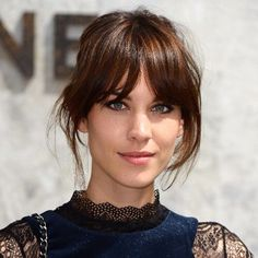 Alexa Chung parted bangs perfection
