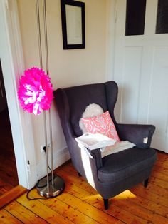 Favourite reading nook with my beloved Ikea wingchair