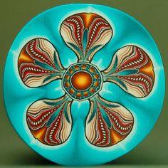LARGE Polymer Clay Flower Cane 'Nostalgia' 51E por ikandiclay