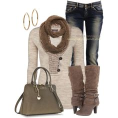 """Buttoned Tunic & DKNY Bag"" by casuality on Polyvore"