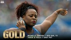 Say hello to USA Track & Field's Michelle Carter, the #Rio2016 shot put #GOLD medalist!