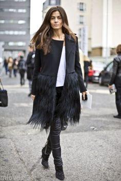 Celine Black Wool Goat Hair Fur Long coat New BNWT UK 12 14 FR 40 42 RTW 2010