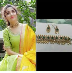 Neck designs Indian Jewellery Design, Jewelry Design, Indian Wedding Jewelry, Pandora, India Jewelry, Simple Jewelry, Jewelry Patterns, Necklace Designs, Imitation Jewelry