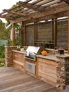 pergola, outdoor kitchen