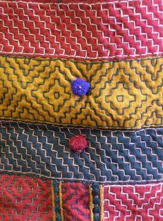 Sri   A Kambira Stitched Rajasthani Bag: Recycled Cottons