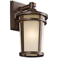 """Atwood Collection 11 1/2"""" High Outdoor Wall Light - #M7568   LampsPlus.com. Love this for Wisconsin"""