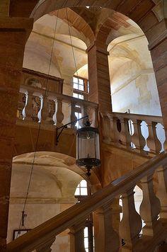 Escalier d'honneur,Château de Cormatin (Saône-et-Loire) Bourgogne