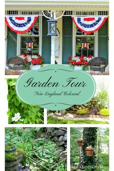 New England Colonial-Home & Garden Tour-Guest Series-Our Crafty Mom. Welcome to a new Summer Home and Garden Tour Guest Series at Our Crafty Mom! Summer Front Porches, Outdoor Living, Outdoor Decor, Garden Gifts, Diy Ideas, Decor Ideas, New England, Colonial, Farmhouse Decor