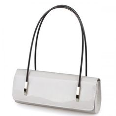 White Patent Leather Pure Color Handbag
