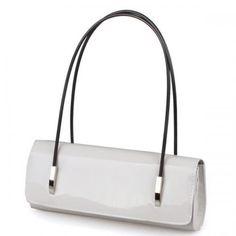White Patent Leather Pure Color Handbag
