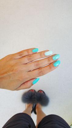 #nails #negler #paznokcie #manicure #hybryda #makear #gelnails #deepgelmanicur #turkis #turkus #mani #hybrydowe #makear753 Manicure, How To Make, Nail Bar, Nails, Polish, Manicures, Nail Manicure