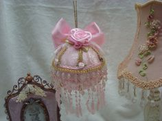 Victorian pinl christmas ball by richie416 on Etsy, $35.00