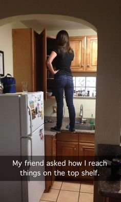 This is TOTALLY me as well...I probably need to invest in a stepstool lol