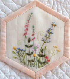 embroidered hexagons - Google Search