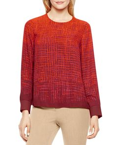 Vince Camuto Abstract Print Top